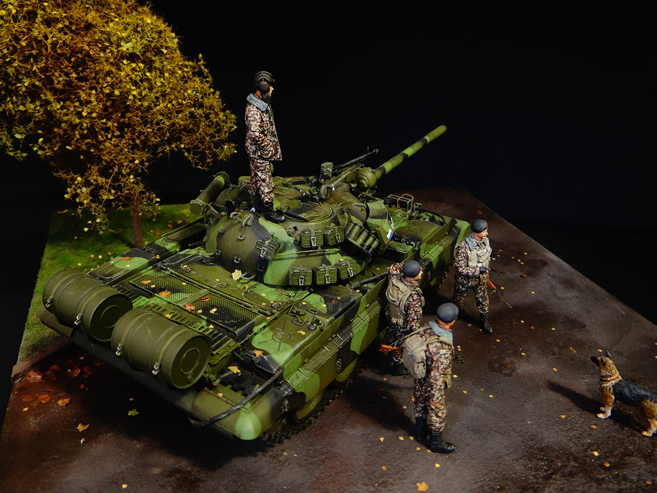 Dioramas and Vignettes: T-55AM, Russian Marines, photo #7
