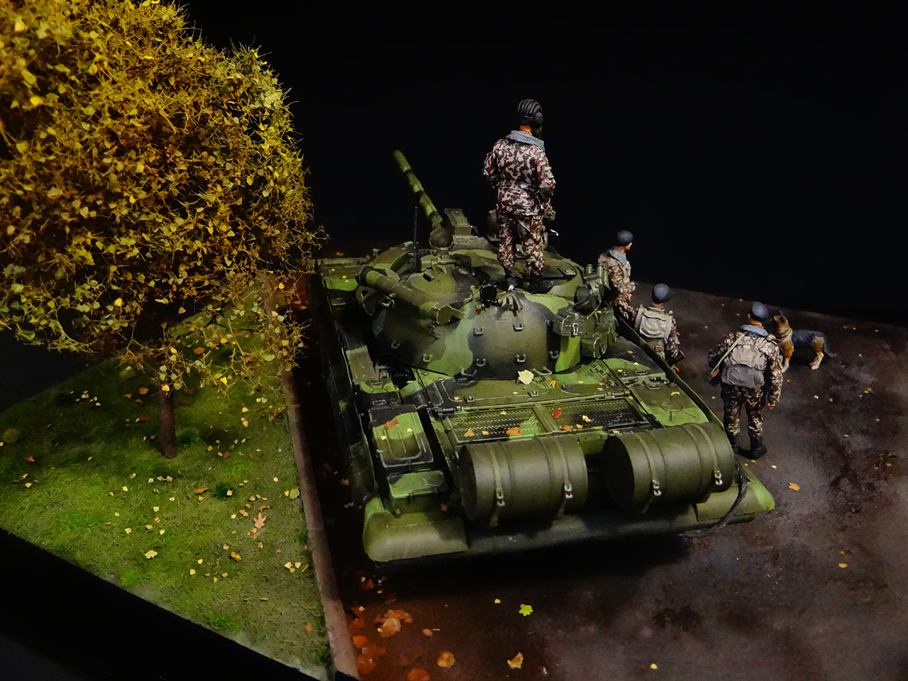 Dioramas and Vignettes: T-55AM, Russian Marines, photo #8