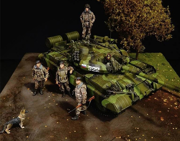 Dioramas and Vignettes: T-55AM, Russian Marines