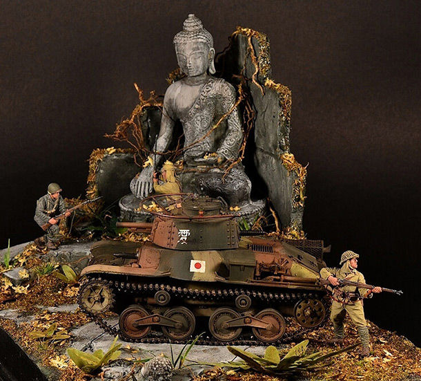 Dioramas and Vignettes: At The Feet of Buddha