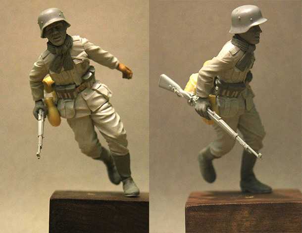 Sculpture: German soldier, Stalingrad