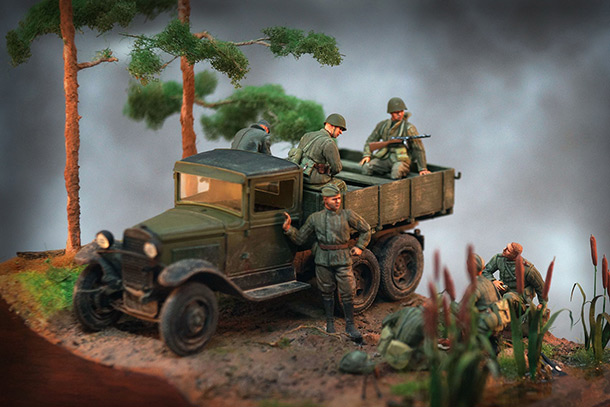 Dioramas and Vignettes: Morning in pine forest