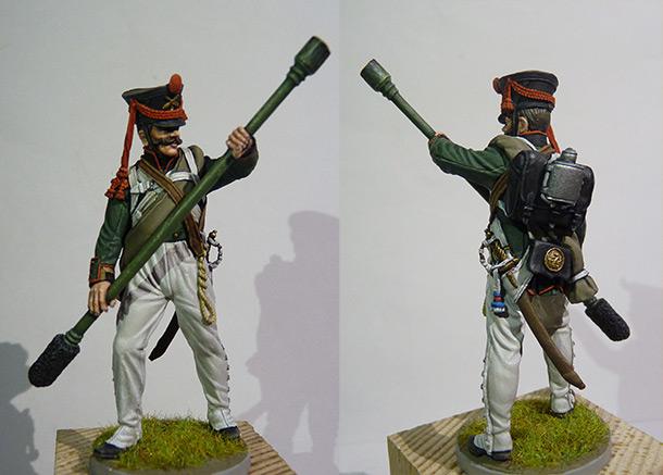 Figures: Bombardier, 12th light company 7th artillery brigade, 1812