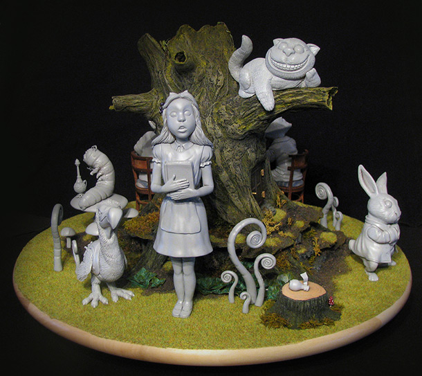Sculpture: Alice in Wonderland