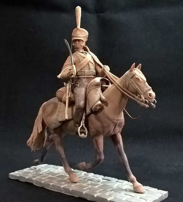 Sculpture: Hussars private, Russia, 1812