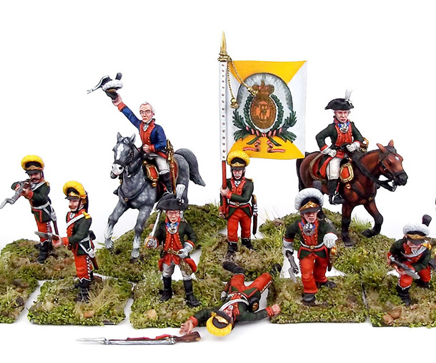 Figures: A.V.Suvorov and his bogatyrs