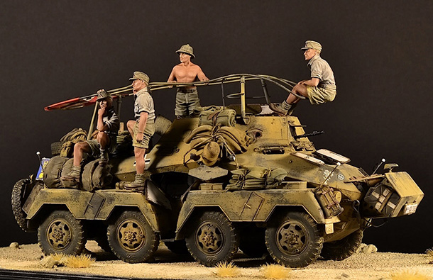 Dioramas and Vignettes: Sd.Kfz. 263 with crew