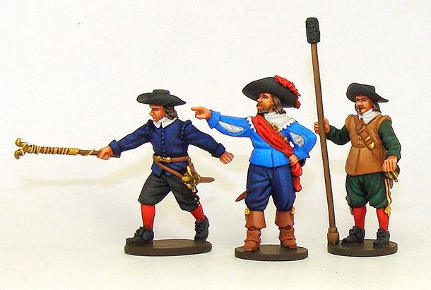 Figures: Artillery crew, 30-years war