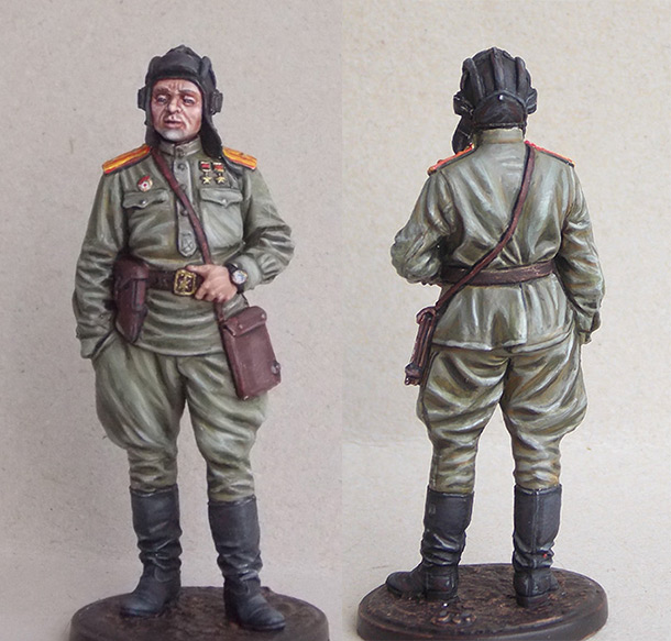 Figures: Guards major, tank batallion commander, 1945