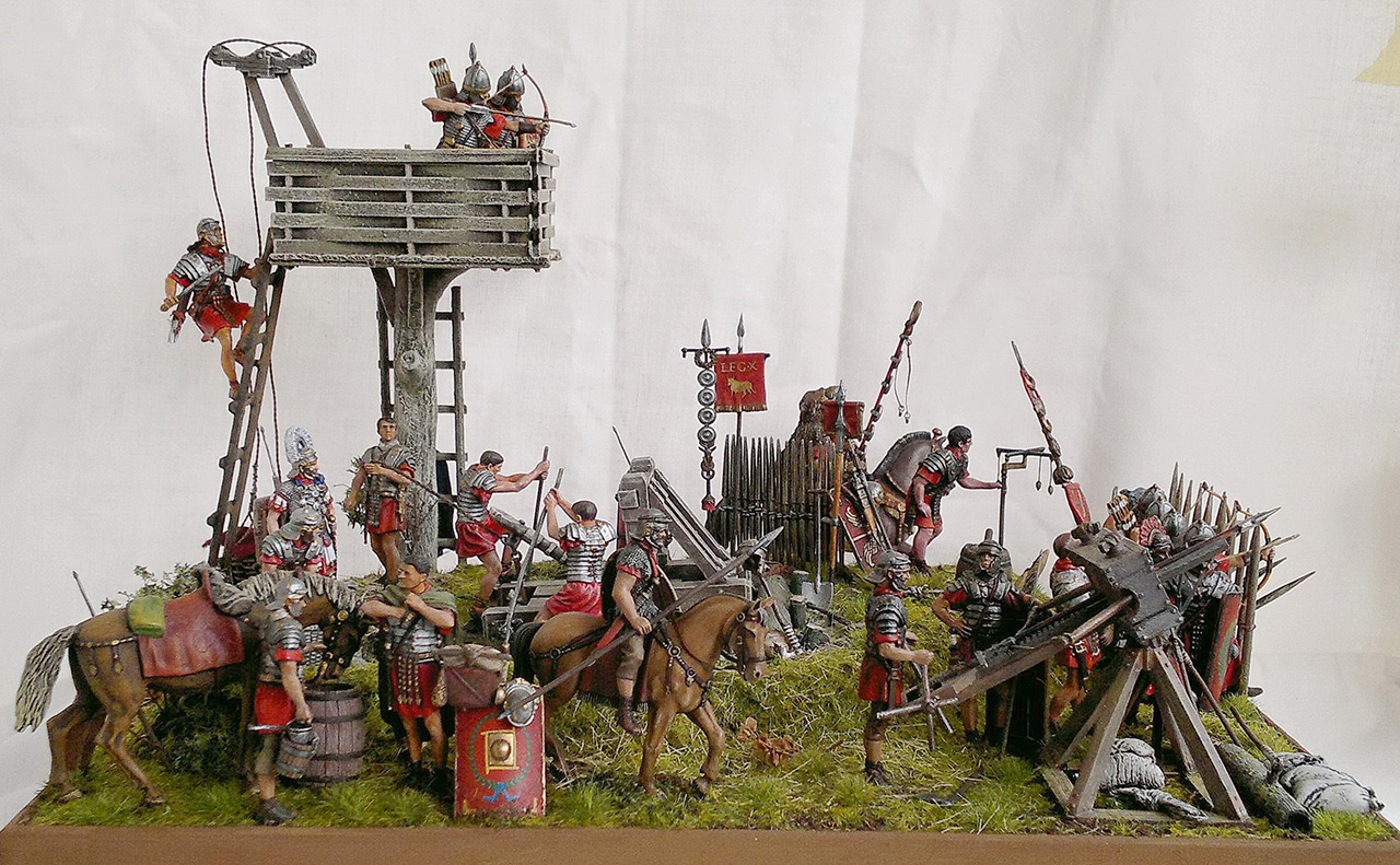 Dioramas and Vignettes: Roman battle position, photo #1