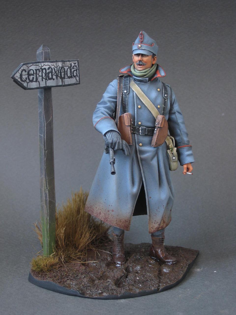 Figures: Romanian machine gunner, 1916, photo #1