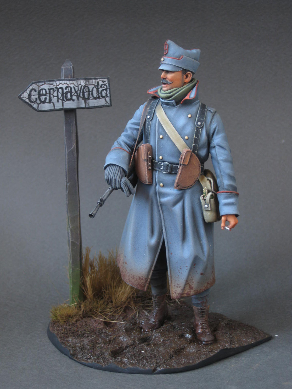Figures: Romanian machine gunner, 1916, photo #2