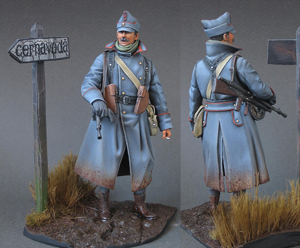 Figures: Romanian machine gunner, 1916