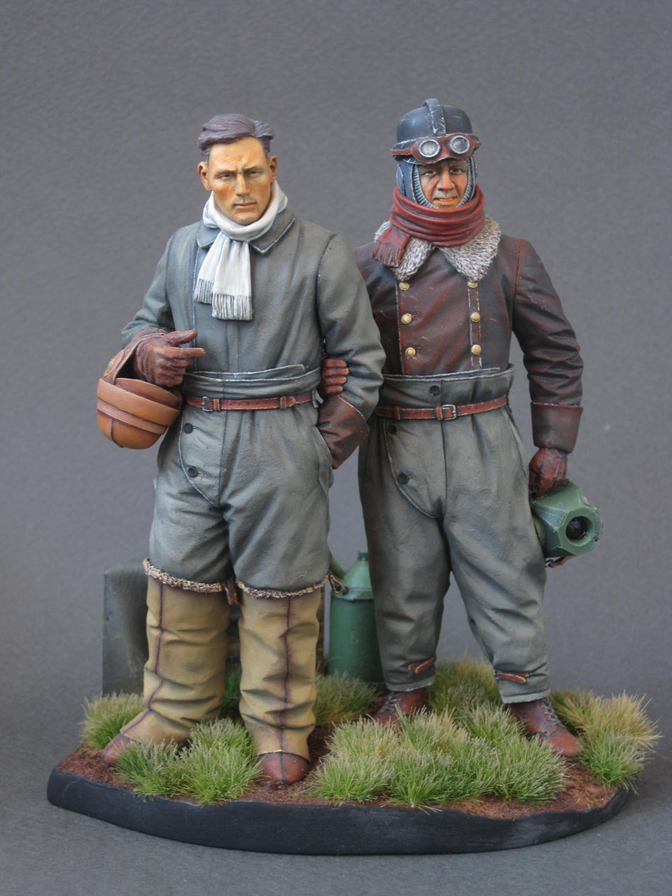 Figures: German aviators, WWI, photo #1