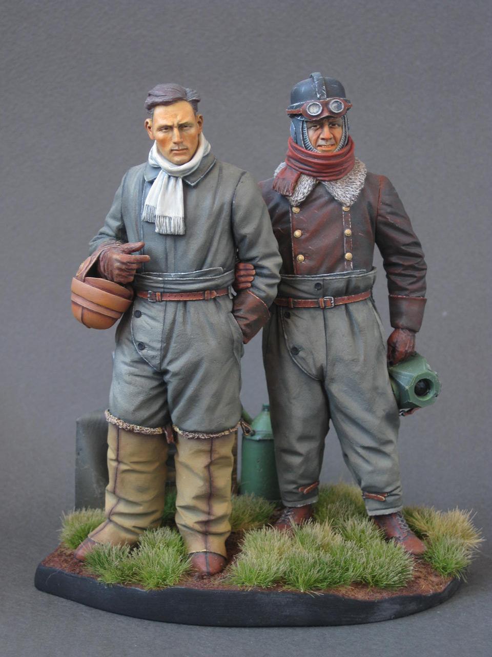 Figures: German aviators, WWI, photo #1