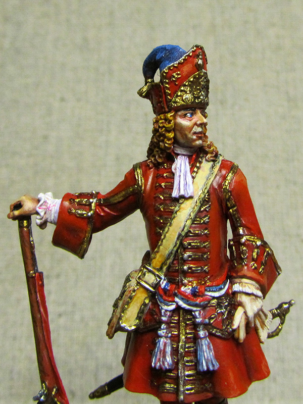 Figures: Senior officer of grenadiers regiments, Russia, 1710, photo #1