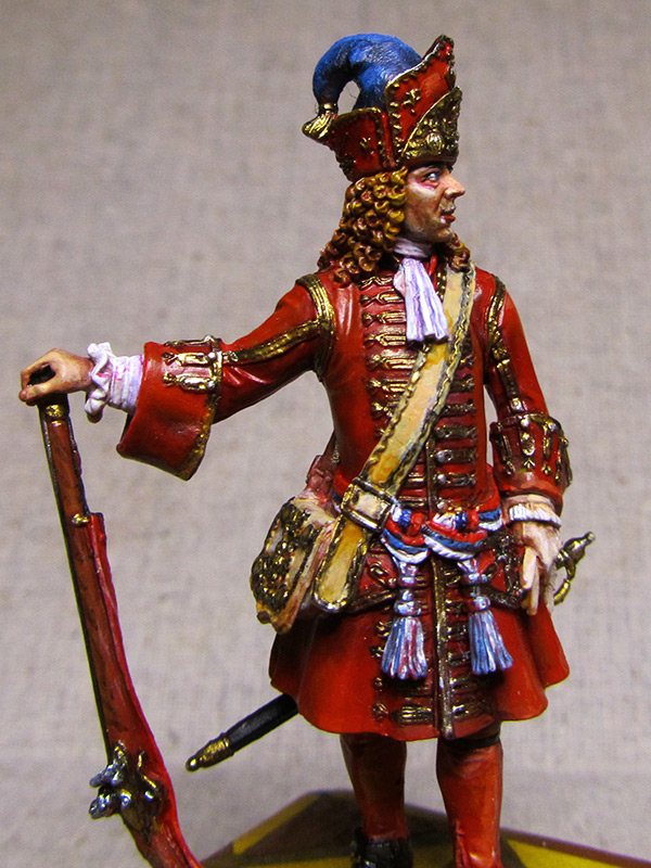 Figures: Senior officer of grenadiers regiments, Russia, 1710, photo #11