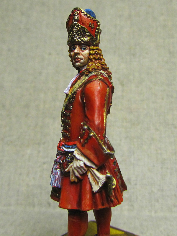 Figures: Senior officer of grenadiers regiments, Russia, 1710, photo #2