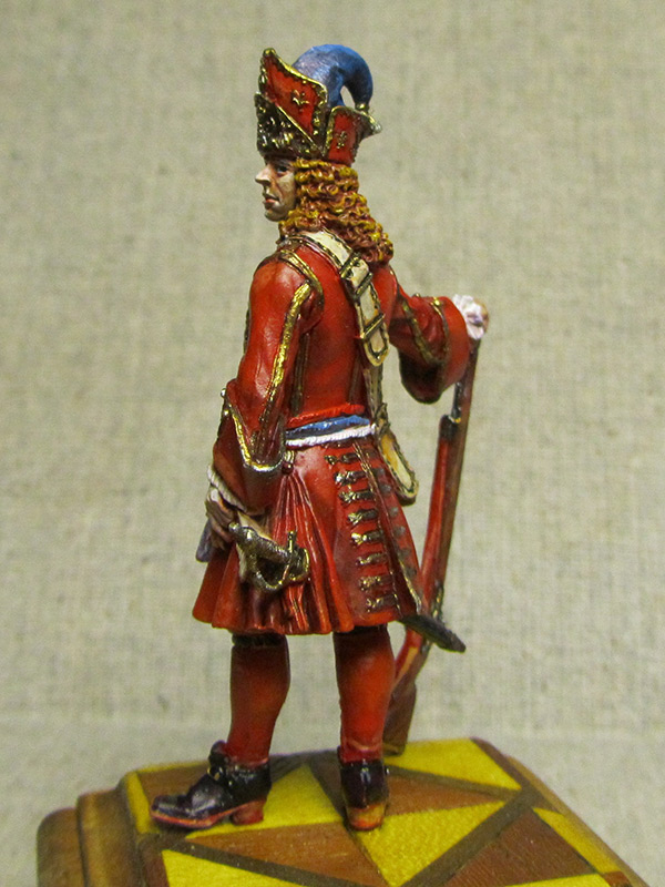 Figures: Senior officer of grenadiers regiments, Russia, 1710, photo #3