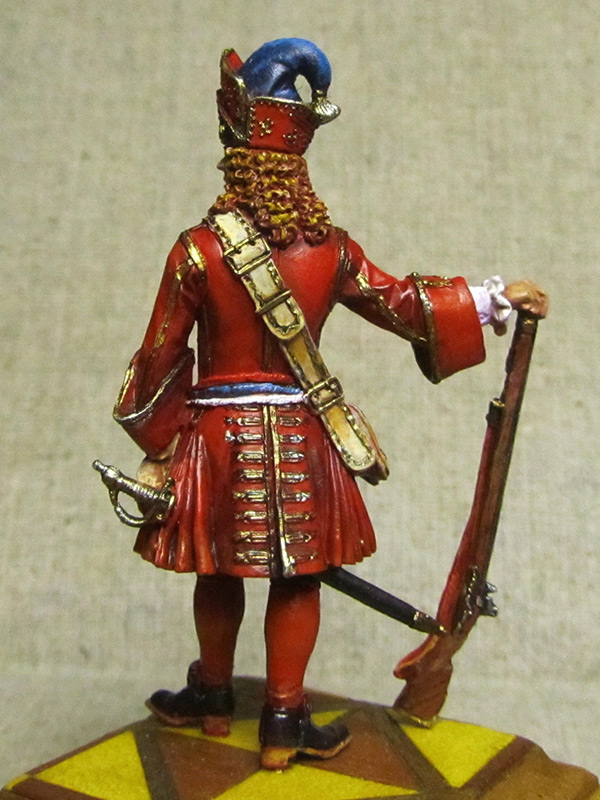 Figures: Senior officer of grenadiers regiments, Russia, 1710, photo #4