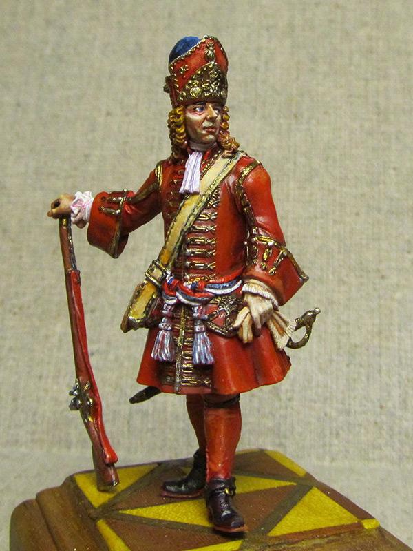 Figures: Senior officer of grenadiers regiments, Russia, 1710, photo #5