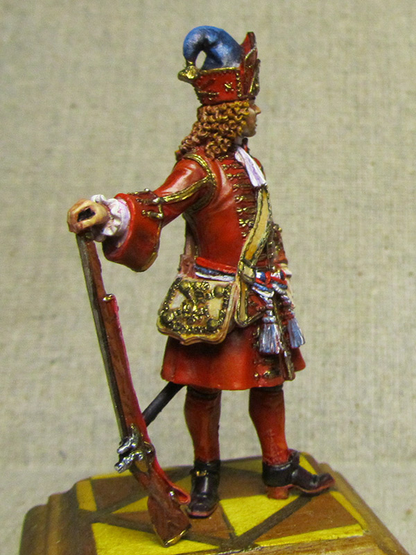 Figures: Senior officer of grenadiers regiments, Russia, 1710, photo #6