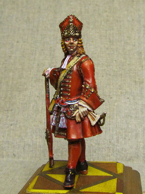 Figures: Senior officer of grenadiers regiments, Russia, 1710, photo #7