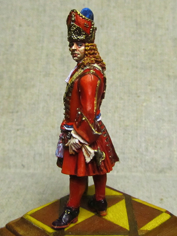 Figures: Senior officer of grenadiers regiments, Russia, 1710, photo #8