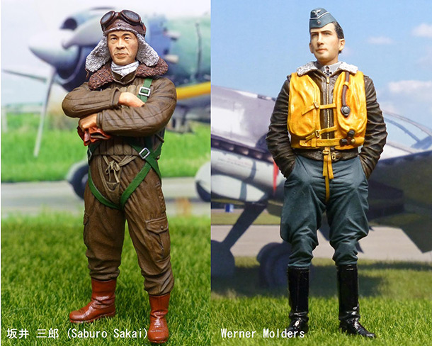 Figures: Saburo Sakai and Werner Mölders