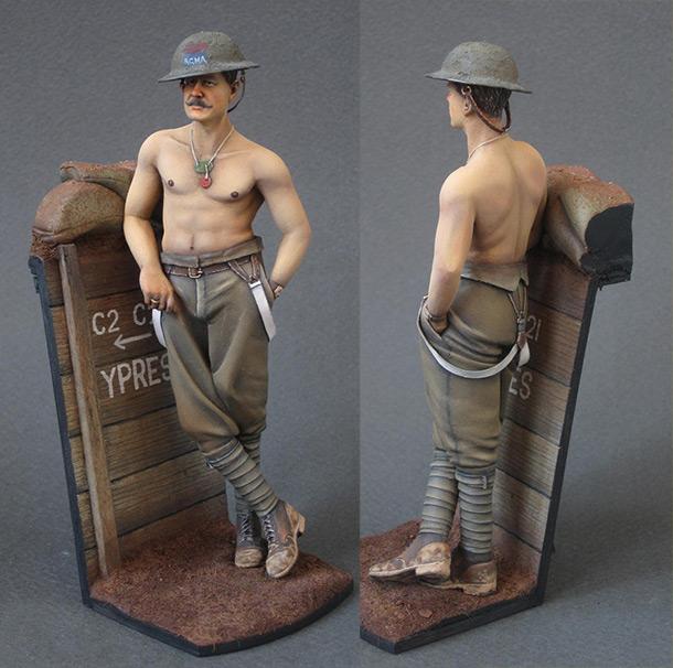 Figures: Canadian Royal Mounted Artillery, 1916