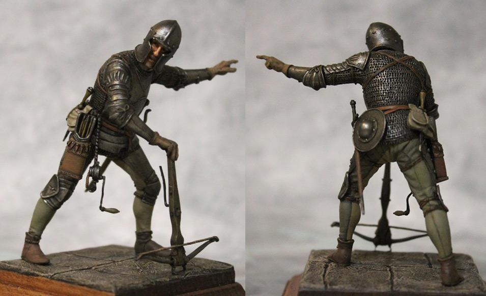 Figures: European crossbowman, XV cent.