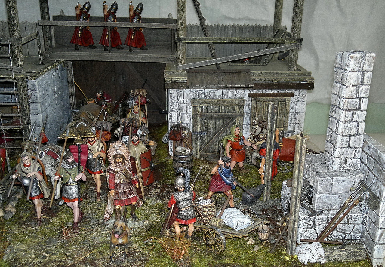 Dioramas and Vignettes: Arrival of replenishment to the frontier of Limes Germanicus, photo #2