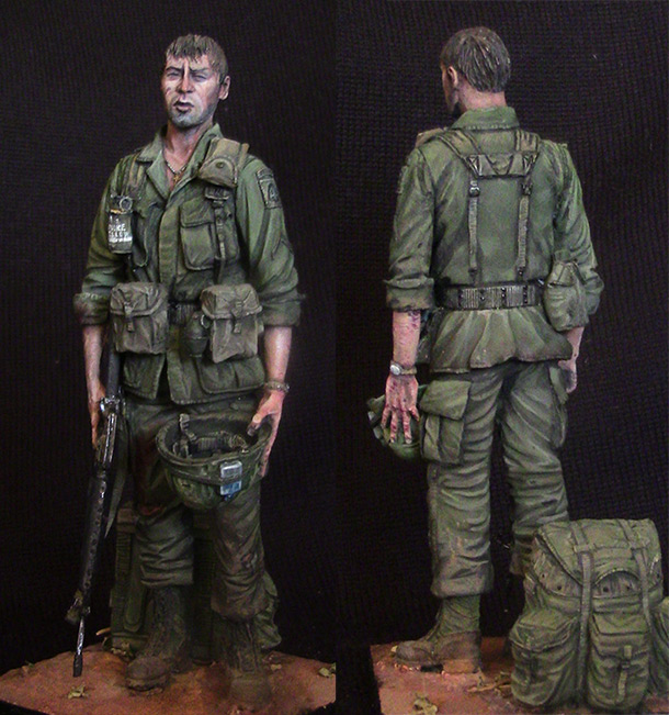Figures: Trooper of 82nd airborne div., Vietnam, 1970