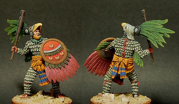 Figures: Aztec, warrior of Eagle order
