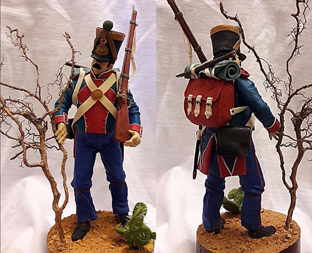 Sculpture: Sergeant of Mexican batallion Mataramos, 1836