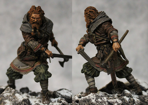 Figures: Scandinavian warrior, IX-X cent.