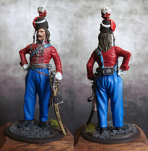 Figures: Senior officer, Leib Guard cossacks, Russia, 1804-09