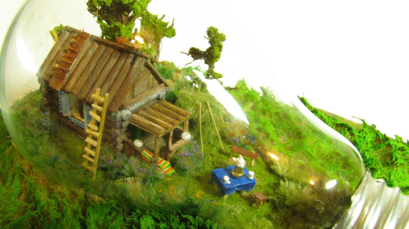 Домик в деревне своими руками макет