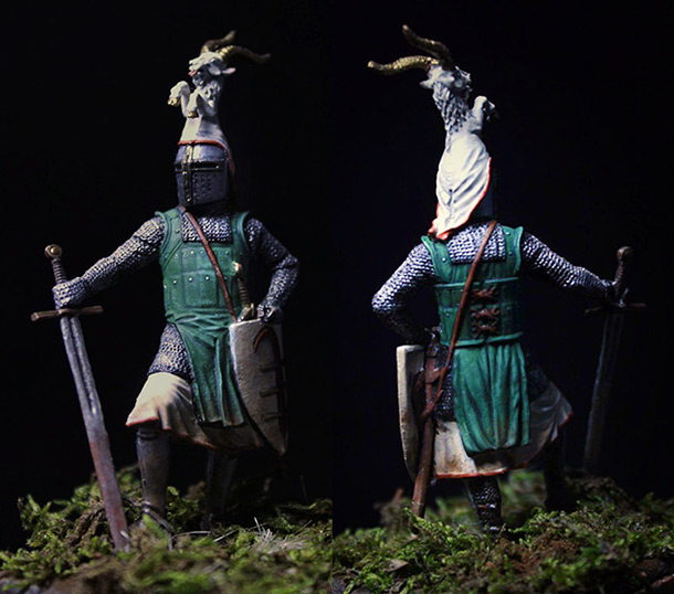 Figures: German knight, late XIII cent.