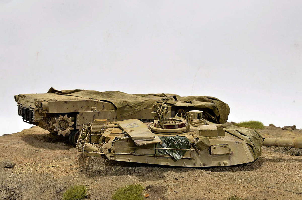 Dioramas and Vignettes:  М1А2 Abrams. Turretless, photo #27