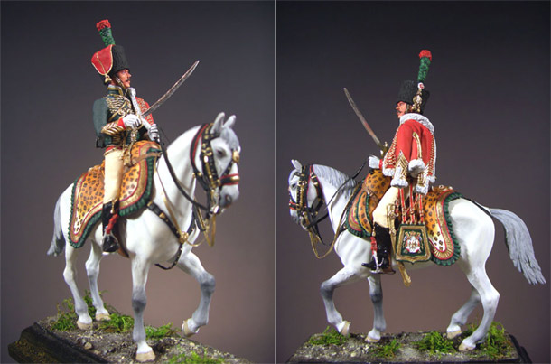 Figures: Officer, Guards Mounted Chasseurs Regiment