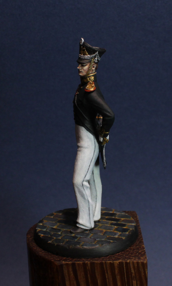 Figures: Senior officer, Guard Equipage, 1812-16, photo #4