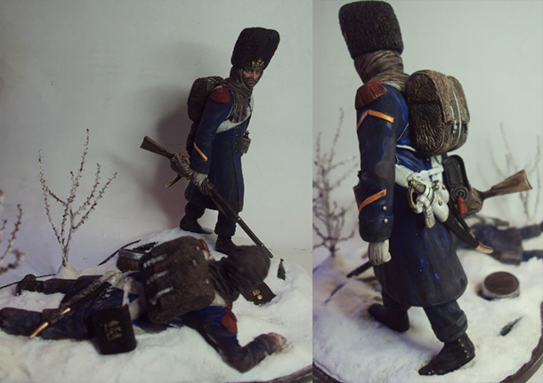 Dioramas and Vignettes: Retreat of Napoleon's army