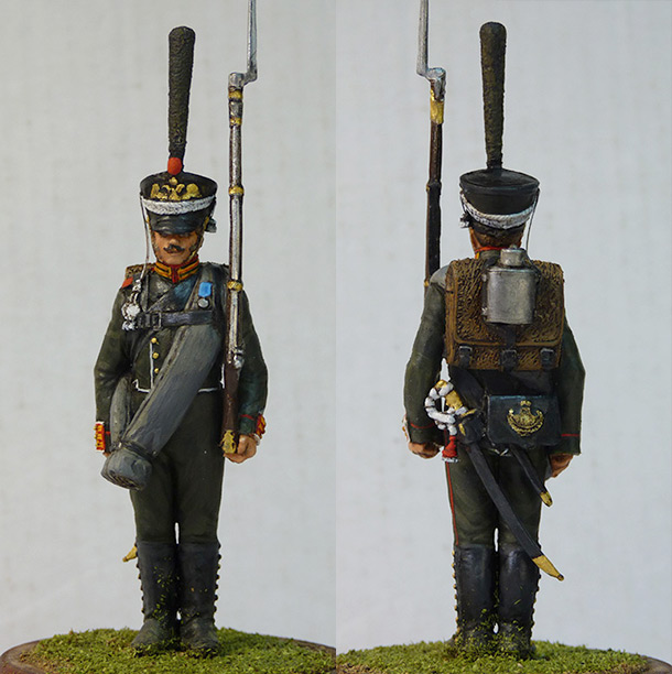 Figures: Carabineer, Leib Guard chasseurs, 1818-23