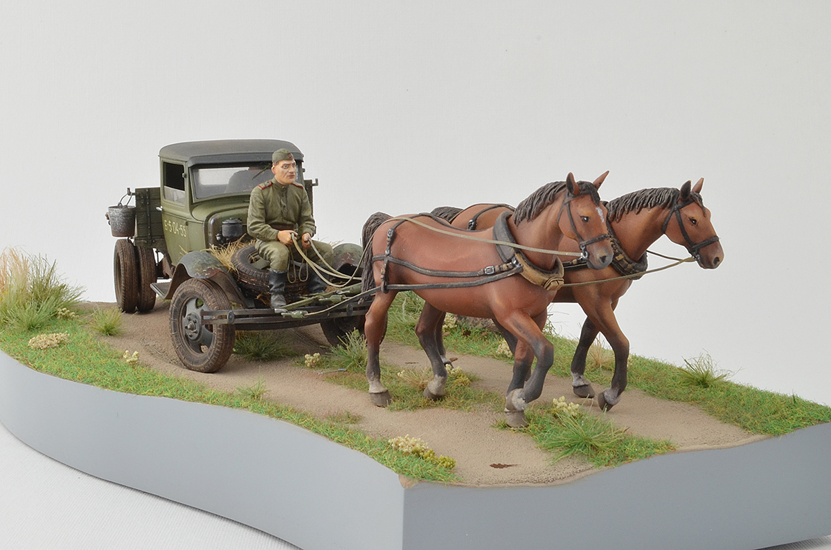 Dioramas and Vignettes: GAZ-AA: two horse powers, photo #1