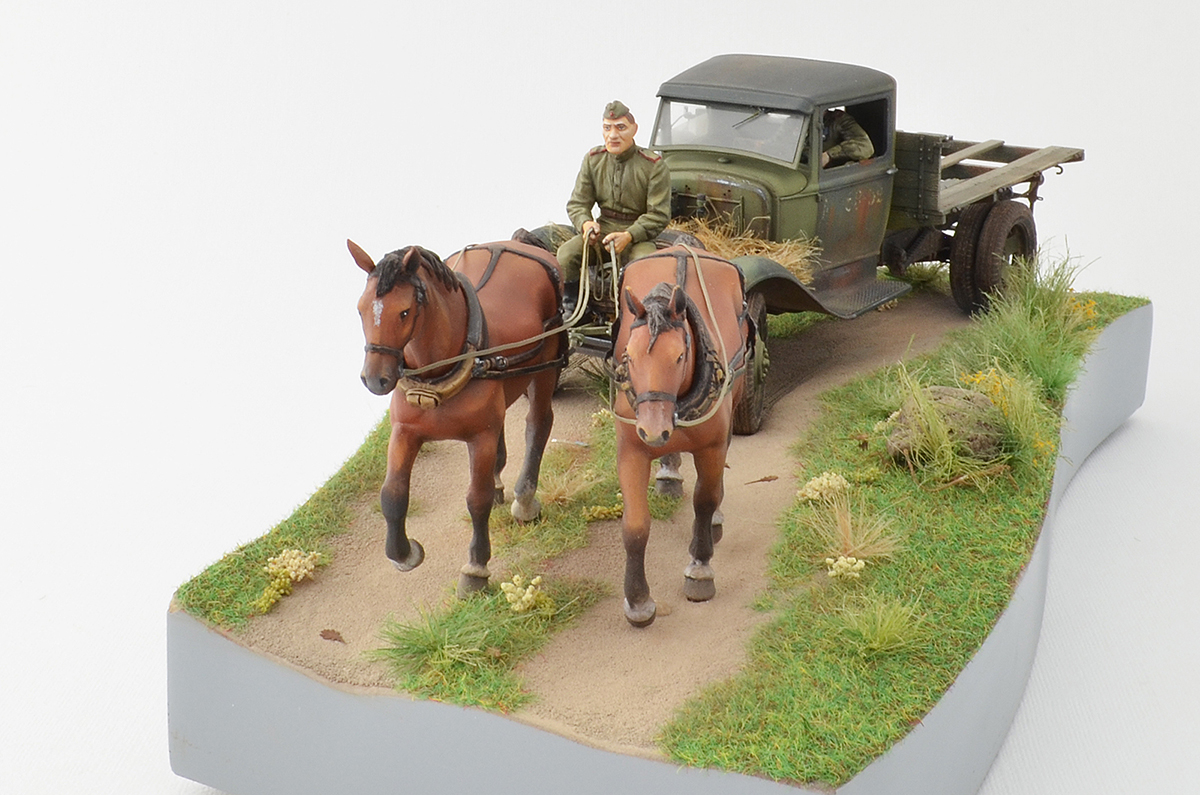 Dioramas and Vignettes: GAZ-AA: two horse powers, photo #10