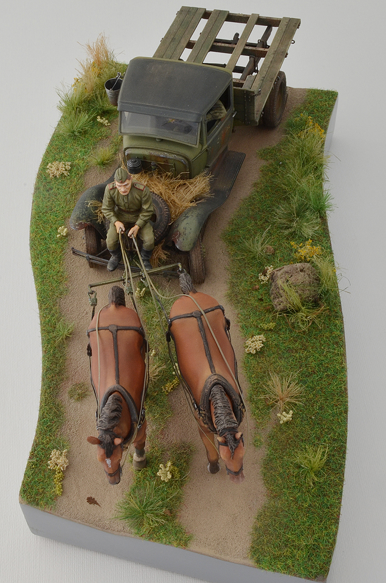 Dioramas and Vignettes: GAZ-AA: two horse powers, photo #13