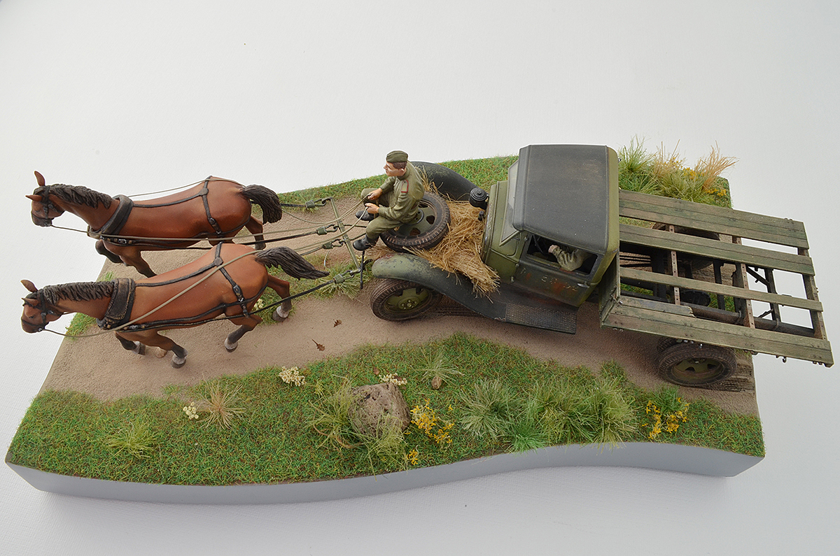 Dioramas and Vignettes: GAZ-AA: two horse powers, photo #18