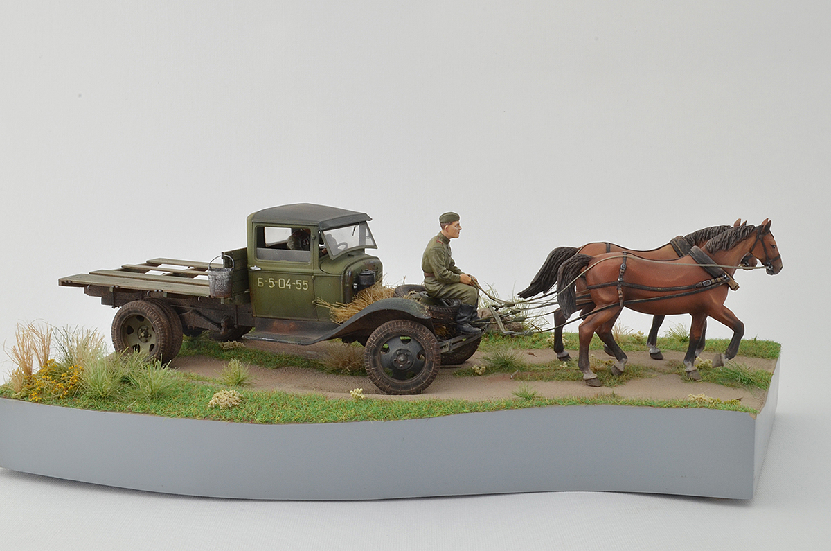 Dioramas and Vignettes: GAZ-AA: two horse powers, photo #3
