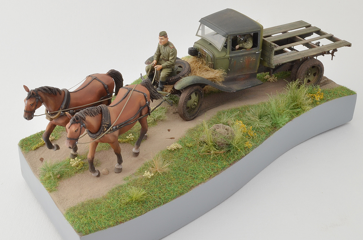 Dioramas and Vignettes: GAZ-AA: two horse powers, photo #4